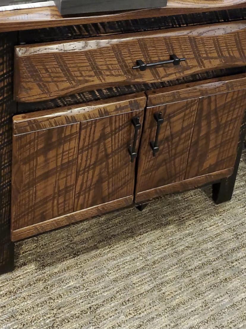 rustic storage cabinet
