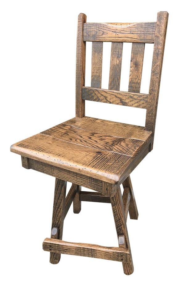 rustic swivel bar stool