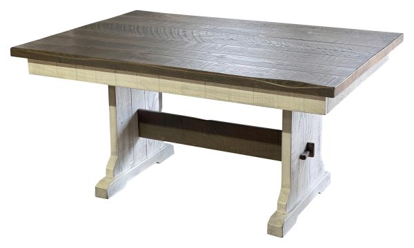rustic trestle table