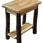 wavy edge chairside end table 2
