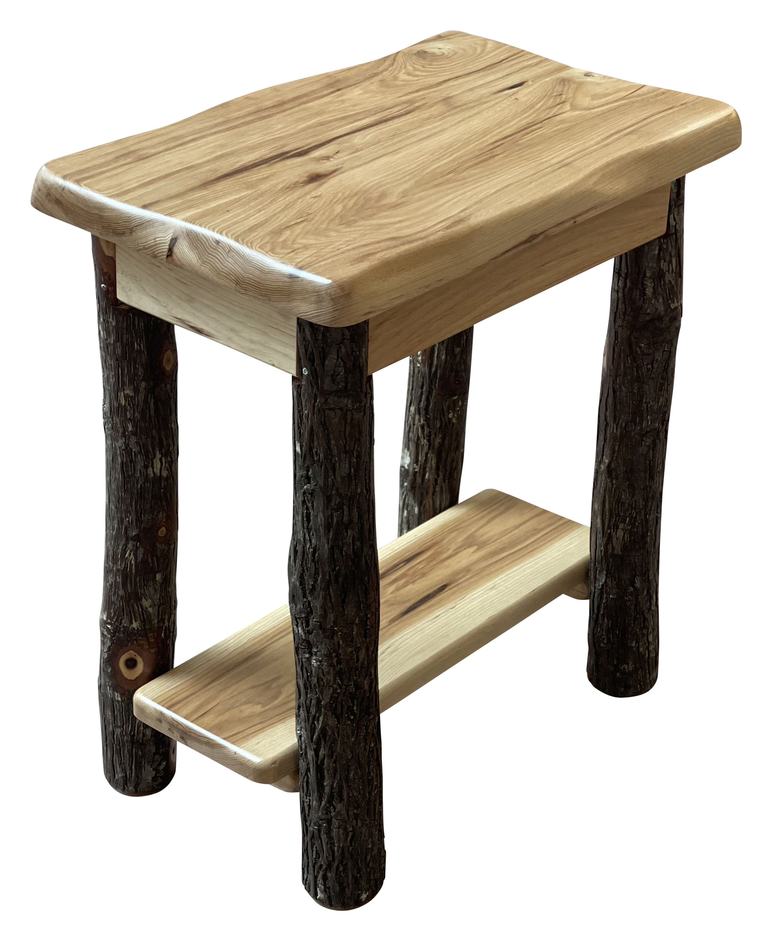 wavy edge chairside end table