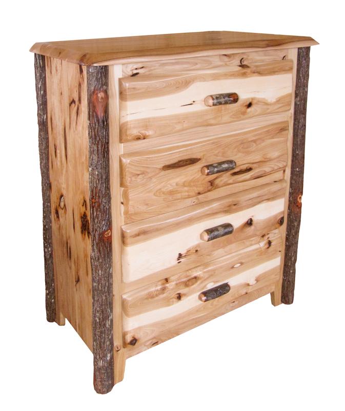 wavy edge chest 4 drawer