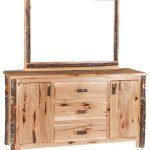 wavy edge dresser 3 drawer 2 cabinet