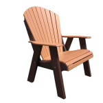 07 fanback deluxe chair poly patio furniture for sale